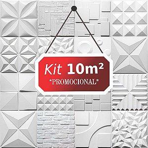 Kit 10m² Revestimento 3D Rustico
