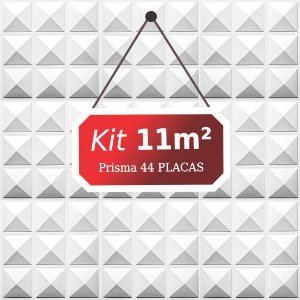 Kit 11m² Placas de Revestimento 3D Prisma
