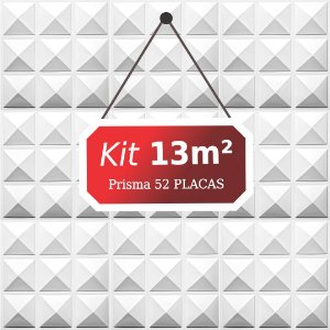 Kit 13m² Placas de Revestimento 3D Prisma