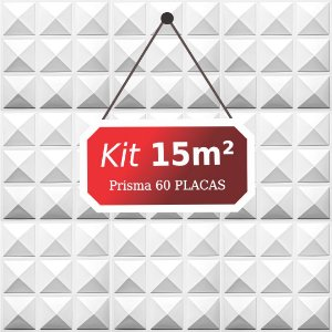 Kit 15m² Placas de Revestimento 3D Prisma