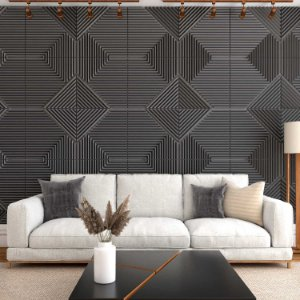Placas decorativas 3D Poliestireno Ripado m²