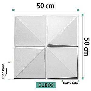 Placa decorativas 3D Poliestireno Cubos