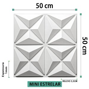 Placa decorativas 3D Poliestireno Mini Estrelar