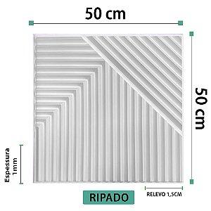 Placa decorativas 3D Poliestireno Ripado
