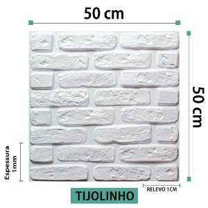 Placa decorativas 3D Poliestireno Tijolinho