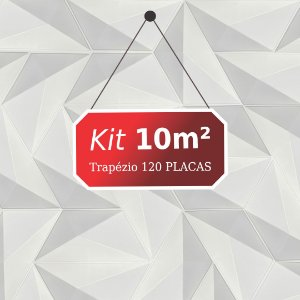 Kit 10m² Placas de Revestimento 3D Trapézio