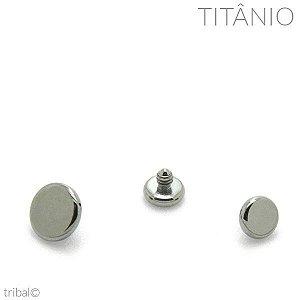 Topo Microdermal Disco Flat Titânio