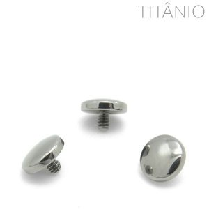 Topo Microdermal Disco Abaulado Titânio