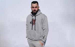 Blusa Moletom GE Brasil Masculino Cinza