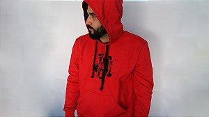 Blusa Moletom GE Brasil Masculino Vermelho