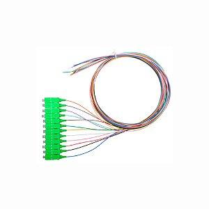 Pigtail Óptico 12 Cores SC/APC 1,5 MTS