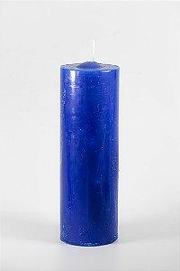 Vela Tipo 7 Dias Azul Escuro (Mel)