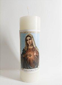 Vela Tipo 7 Dias Coração de Maria