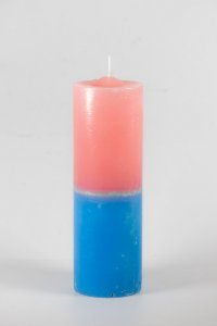 Vela Tipo 7 Bicolor (Rosa e Azul)