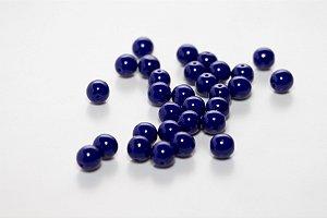 Conta de Porcelana Azul Escuro
