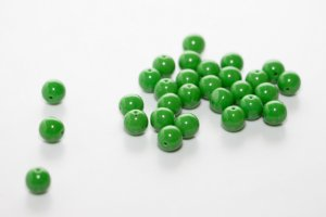Conta de Porcelana Verde
