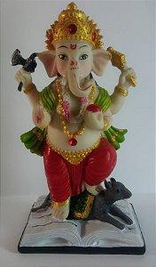 Figura Ganesha em Pé - 13cm
