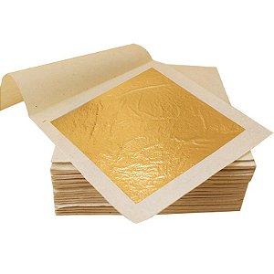 Pacote c/ 100 Folhas De Ouro - IMPORTADO