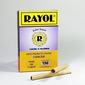 Cigarros de Palha Rayol - Caixa c/ 16 Palheiros