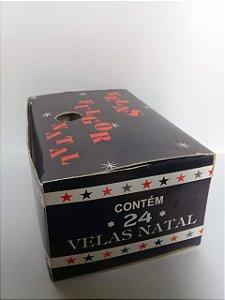 Vela Fulgor Natal COLORIDA - Caixa c/ 24