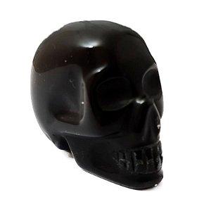 Crânio em Obsidiana Negra aproximadamente de 60 gramas a 77 gramas