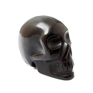 Crânio em Obsidiana Negra 96 gramas a 105 gramas aproximadamente - Qualidade Extra
