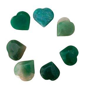 Coração em Quartzo Verde 4cm