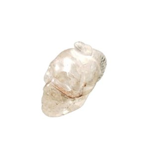 Crânio com Serpente em Cristal Quartzo Transparente com Rutilo 140gr