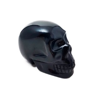 Crânio em Obsidiana Negra 600gr