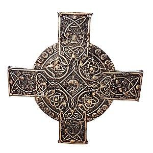 Placa de Parede em Relevo Cruz Celta
