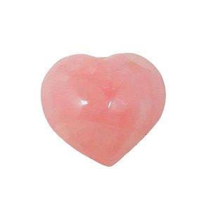 Coração em Quartzo Rosa