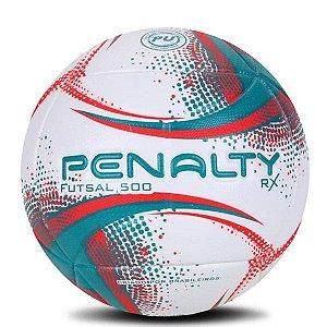 Bola Penalty Futsal 500 RX Branco Verde & Vermelho