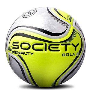 Bola Penalty Society Bola 8 Branco & Amarelo