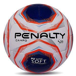 Bola de Futebol Campo Penalty S11 R2 X - Branco e Azul