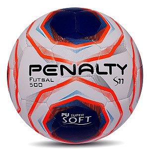 Bola de Futebol Futsal Penalty S11 R2 X - Branco e Azul