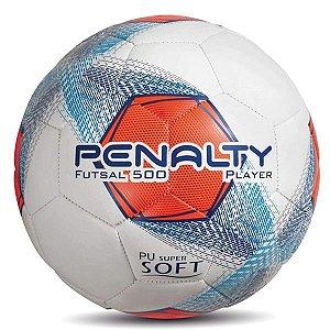 Bola Penalty Player  500 Futsal Branca e Azul