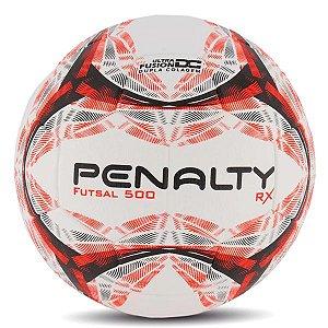 Bola de Futsal Penalty Rx R1 500 Branco e Laranja
