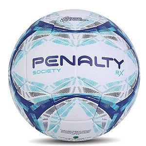 Bola de Society Penalty Rx R1 500 IX - Branco e Azul