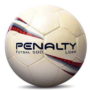 Bola de Futsal Penalty Líder X Branco e Vermelho