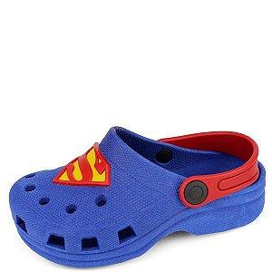 Babuche Azul Superman 25/32 Caixa Com 12 Pares