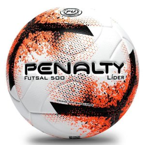 Bola de Futsal Penalty Lider XXI - Laranja e Preto