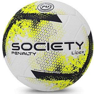 Bola de Society Penalty Lider XXI - Chumbo e Amarelo