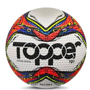 Bola Topper Samba Futsal TD1 5132 Verm Neon Azul e Preto