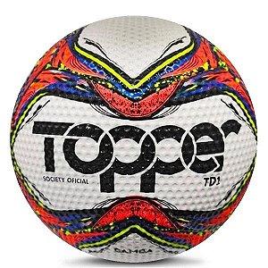 Bola Topper Samba Society TD1 5131 Verm Neon Azul e Preto