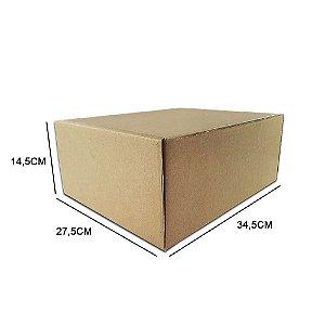 Caixa de papelão padrão para correios e e-commerce - 25 unidades sem impressão tamanho 34,5 x 27,5 x 14,5