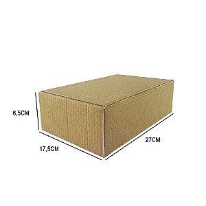 Caixa de papelão padrão para correios e e-commerce - 25 unidades sem impressão tamanho 27 x 17,5 x 7