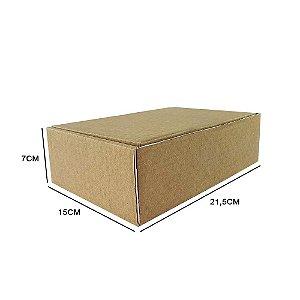 Caixa de papelão padrão para correios e e-commerce - 25 unidades sem impressão tamanho 21,5 x 15 x 7