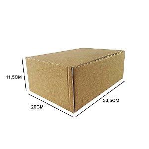 Caixa de papelão padrão para correios e e-commerce - 25 unidades sem impressão tamanho 30,5 x 20 x 11,5