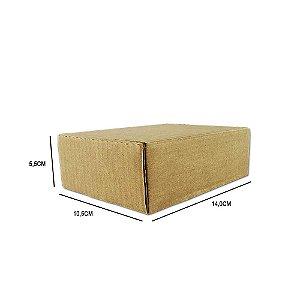 Caixa de papelão padrão para correios e e-commerce - 25 unidades sem impressão tamanho 14 x 10,5 x 5,5