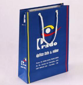 SACOLA PERSONALIZADA TAMANHO P 14X16,7X6,5 - 100 UNIDADES